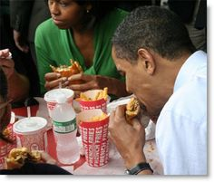 Burgers and fries with Barry.