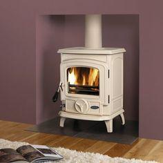New Living Room Designs Small Spaces Fit Ideas Cream Log Burner, Small Log Burner, Modern Log Burners, Small Wood Burning Stove, Solid Fuel Stove, Small Stove, Small Fireplace, Stove Fireplace, Fireplace Design
