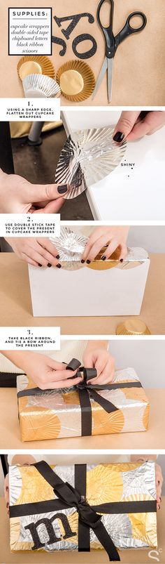 DIY Present Packing With Cupcake Wrappers.....25 Adorable and Creative DIY Gift Wrapping Ideas for All Occasions #DIYCrafts