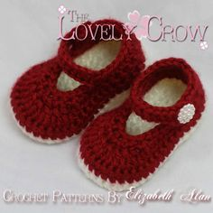 Slippers Crochet PATTERN Christmas for Baby Holly Shoes digital on Etsy, $5.95