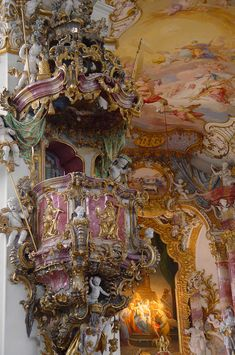 ❤ NOT Versailles but a beautiful example of Bavarian Rococo. Baroque Architecture, Beautiful Architecture, Beautiful Buildings, Architecture Details, Beautiful Places, Beautiful Castles, Historical Architecture, Chateau Versailles, Palace Of Versailles