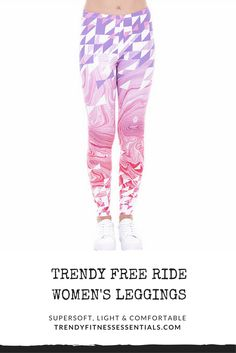 Dress to impress and turn your fitness passion into fashion! Unique print pattern super soft, light and comfortable Free Ride Fashion Women's Leggings