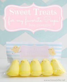 Sweet Treats for my Peeps + Free printable