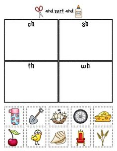 digraphs worksheets sorting ch sh and th words also in black and white k 1 ideas. Black Bedroom Furniture Sets. Home Design Ideas