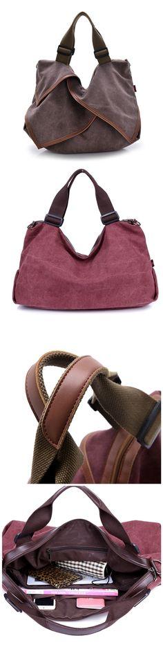 Women's Luxury Handbags Bags Shoulder Bags Female Bag Canvas Bag Solid Handbags Bagail.com