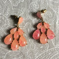 Coral statement earrings Stunning sunset coral earrings. Never worn! Gold setting.   ↠ No trades  ↠ 15% bundle discount  ↠ Lowball offers are declined  ↠ I ship same or next day  ☞ Follow my Instagram- Seahighmarket Francesca's Collections Jewelry Earrings