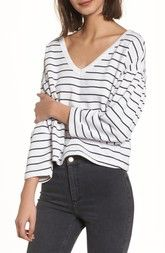 BP. Drop Shoulder Stripe Sweater available at #Nordstrom