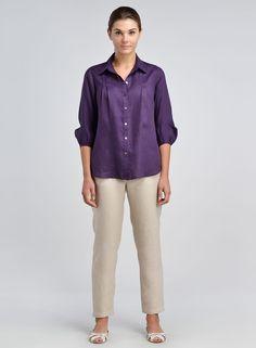 Kurti Neck Designs, Blouse Designs, Shirt Jacket, Shirt Sleeves, Linen Blouse, Collar Shirts, Collar Top, Light Jacket, Blouse Styles