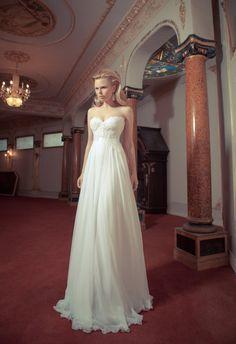 Vintage Wedding DressLace wedding topChiffon by SharonKatzDesign