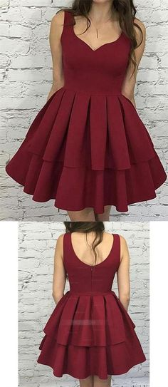 Simple Burgundy A Line Strap Mini Homecoming Dresses Cocktail Dresses Dusty Pink Bridesmaid Dresses, Hoco Dresses, Cheap Prom Dresses, Party Dresses For Women, Cheap Wedding Dress, Girls Dresses, Inexpensive Homecoming Dresses, Affordable Bridesmaid Dresses, Simple Cocktail Dress