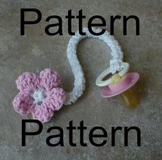 PDF Pattern for Crochet Pacifier Clip by MaisondeTerre on Etsy