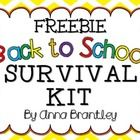 Do you need an inexpensive and cute back to school treat for your new students? These back to school survival kit tags are sure to do the trick!