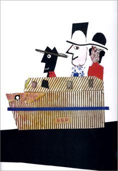 Javier Zabala, El hombre que compró la ciudad de Estolcolmo, texto de Gianni Rodari, Ediciones SM, Madrid, 2008.