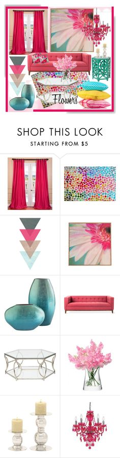 """Decorate with Flowers * Pink"" by calamity-jane-always ❤ liked on Polyvore featuring interior, interiors, interior design, home, home decor, interior decorating, EFF, DENY Designs, LSA International and Mix & Match"