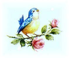 Vintage Bluebird Illustration | Vintage bird art on Pinterest | Vintage Birds, Vintage Clip Art and ...