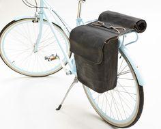 Brooks Brick Lane Roll-Up Pannier Bicycle Rear Rack, Bicycle Panniers, Bicycle Bag, Leather Bicycle, Velo Retro, Velo Vintage, Vintage Bicycles, Bike Storage Systems, Imperator Furiosa