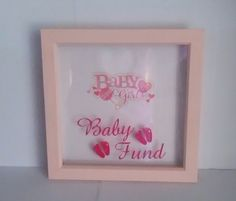 Baby Girl fund money box frame Childrens Gifts, Money Box, Box Frames, Baby Gifts, Piggy Bank, Gifts For Baby, Gifts For Children, Money Bank, Baby Presents