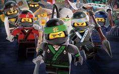 Download wallpapers The Lego Ninjago Movie, 4k, Ninja Warriors, 2017 movie, 3d animation, poster