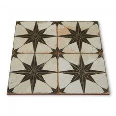 Merola Tile Kings Star Nero Encaustic 17 5 8 In X 17 5 8