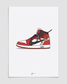 Image of Off-White x Jordan 1 Sneakers Wallpaper, Shoes Wallpaper, Sneaker Posters, Sneakers Sketch, Hype Wallpaper, Ball Drawing, Supreme Wallpaper, Hypebeast Wallpaper, Sneaker Art