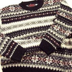 Fair Isle man in jumper | fair isle/shetland knitting | Pinterest ...