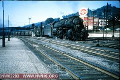 N&W Class Y6b No. 2196 with E/ B Freight at Bluefield,WV