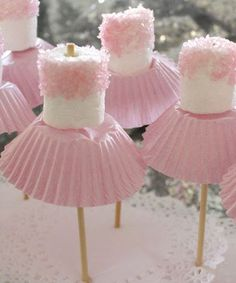 for Amzi's birthday? Marshmallow ballerinas Oh goodness - now, we've all seen cake pops, and we all know about what fun they can be for a party. so how about this for a theme, the ballerina party, complete with little marshmallow ballerinas! Babyshower Party, Tutu Party Theme, Ballerina Party, Ballerina Cupcakes, Angelina Ballerina, Tutu Cupcakes, Ballerina Baby Showers, Ballerina Birthday Parties, 1st Birthday Parties