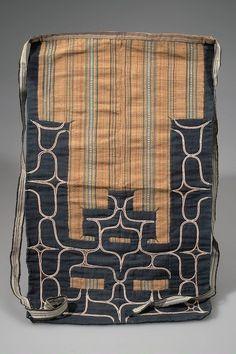 Full Image and Description Tribal Patterns, Cool Patterns, Textures Patterns, Poncho Pattern Sewing, Ainu People, Japanese Apron, Japan Crafts, Textile Fiber Art, Plant Fibres