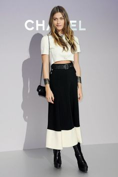 Elisa Sednaoui Photo - Celebs at the Chanel Show in Paris