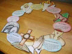 Holy week wreath w/ printables