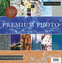 Die Cuts with a View - The Premium Photo Stack - Foil Glitter and Gloss Paper Stack - 12 x 12 at Scrapbook.com $19.99
