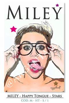 """""""Art SHOP"""": Miley - Happy Tongue - Stars... ౿౿౿౿★"""