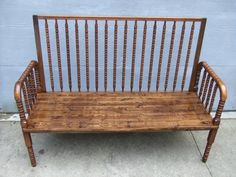 Baby Crib bench - Jenny Lind - needs fluffy pillows