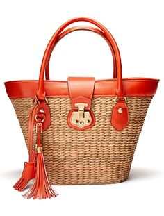 Our Talbots Beacon Hill straw tote: the iconic summer bag.