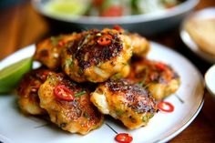 Thai Style Prawn Cakes with Hot & Sour Dipping Sauce