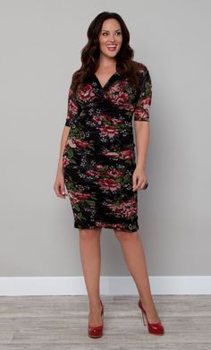 e27f0990286  plussize Betsey Floral Print Dress at Curvalicious Clothes TAKE EXTRA 50% OFF  SALES ITEMS