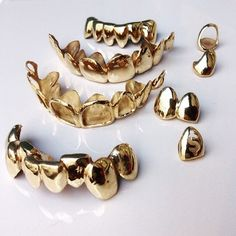 Image de gold, teeth, and grill