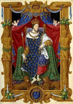 Maître des Heures de Henri II, Portrait de François Ier en habit de sacre (1566)…