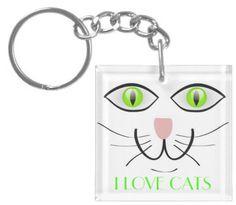 #Zazzle                   #love                     #Love #Cats #Face #Cute #Feline #Design #Square #Acrylic #Chain #from #Zazzle.com                       I Love Cats Cat Face Cute Feline Design Square Acrylic Key Chain from Zazzle.com                                                  http://www.seapai.com/product.aspx?PID=1359966