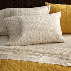 Organic Lattice Sheet Set in yellow | west elm