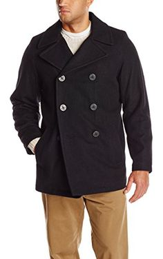 Tommy Hilfiger Men's Big-Tall Classic Peacoat, Black, 2X-Large/Tall ❤ Tommy Hilfiger Men's Outerwear