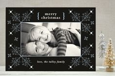 Evening Snowflakes Christmas Photo on Minted