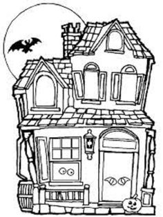 Spooky Case Coloring Page Halloween QuiltsHalloween HouseHaunted