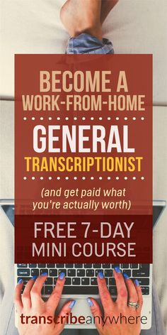 Job Discover Transcription Foundations: Free Mini-Course Most folks think general transcription means youre stuck working for beans at a big company. But LOTS of businesses hire transcriptionists! Legit Work From Home, Legitimate Work From Home, Work From Home Jobs, Earn Money From Home, Earn Money Online, Way To Make Money, Quick Money, Money Fast, Importance Of Time Management