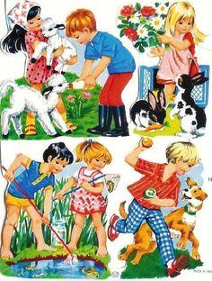 Poesieplaatjes | Pasttimebooks.nl Vintage Ephemera, Vintage Cards, Vintage Paper, Vintage Postcards, Vintage Baby Pictures, Vintage Images, Sweet Memories, Childhood Memories, Cartoon Quotes