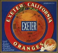Exeter: Exeter California oranges, grown and packed by Exeter Orange Growers Association