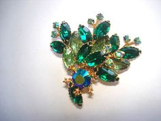 Vintage Juliana  Rhinestone  Brooch Gold Tone by sanibelsands, $39.99