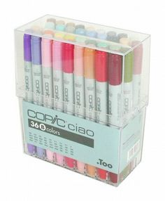 Too. Copic Marker Set - Ciao 36 Colors Pen Set B - Japan Drawing Markers, Anime, Animation, Manga Art Supplies - Non-Toxic, Entry Model - JapanLovelyCrafts