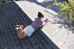regularly on the roof...