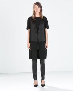 Image 1 of LONG COMBINED WAISTCOAT from Zara